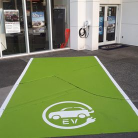 Custom electric vehicle parking spot