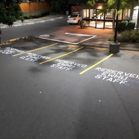Commercial line painting - parking lot